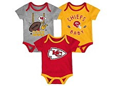 Newborn Kansas City Chiefs Champ 3-Pc. Bodysuit Set