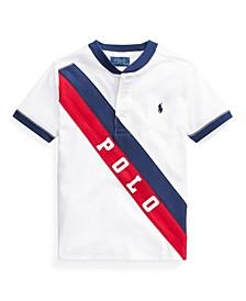 Little Boys Banner Cotton Jersey Henley T-shirt