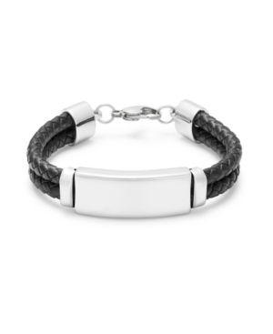 Men's Black Double Leather Bracelet