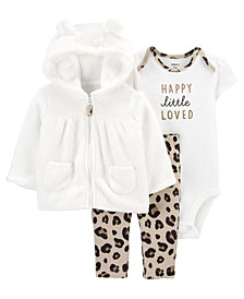 Carters Baby Girl 3-Piece Leopard Little Jacket Set