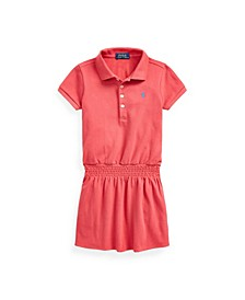 Little Girls Smocked Mesh Polo Dress