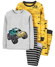 Carters Big Boy 4-Piece Construction 100% Snug Fit Cotton PJs
