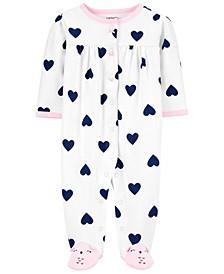 Carters Baby Girl Heart Snap-Up Cotton Sleep & Play