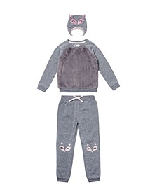 Little Girls 3 Piece Minky Outfit Set