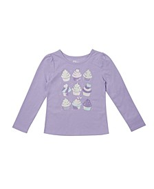 Little Girls Long Sleeve Graphic Tee