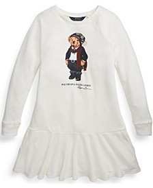 Big Girls Tuxedo Bear French Terry Dress