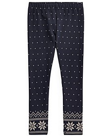 Toddler Girls Polka-Dot Stretch Jersey Legging