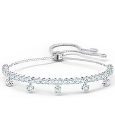 Silver-Tone Crystal Slider Bracelet