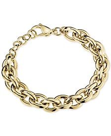 Statement Chain Bracelet in Gold-Tone PVD Stainless Steel