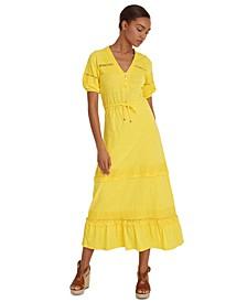 Lace-Trim Prairie Dress