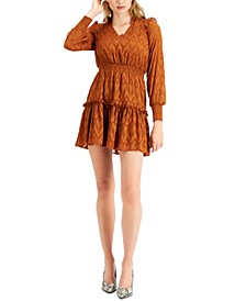 Burnout Ruffled Mini Dress, Created for Macy's