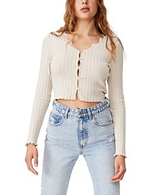 Women's Rena Lace Trim Cardigan