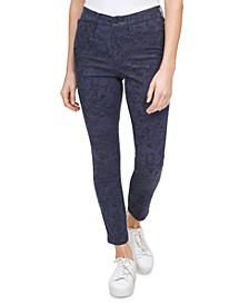 Python-Print High-Rise Skinny Jeans