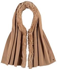 Soft Stretch Women's Wrap with Faux Fur