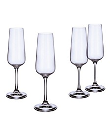 Ovid Flute Champagne Glass, Set of 4
