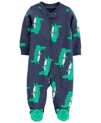 Baby Boys Alligator 2-Way Zip Cotton Sleep and Play One Piece