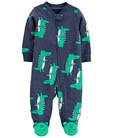 Baby Boys Alligator 2-Way Zip Cotton Sleep and Play One Piece
