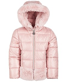 Toddler Girls Faux-Fur-Trim Puffer Coat