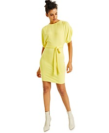 CULPOS X INC Jersey Tie-Waist Mini Dress, Created for Macy's