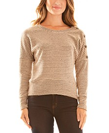 Juniors' Textured Knit Top
