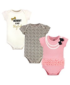 Baby Boys and Girls Cotton Bodysuits, Pack of 3
