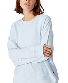 Women's Long Sleeve Fleece Crew Sweater