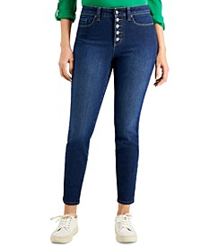Windham Button-Fly Skinny Jeans, Created for Macy's