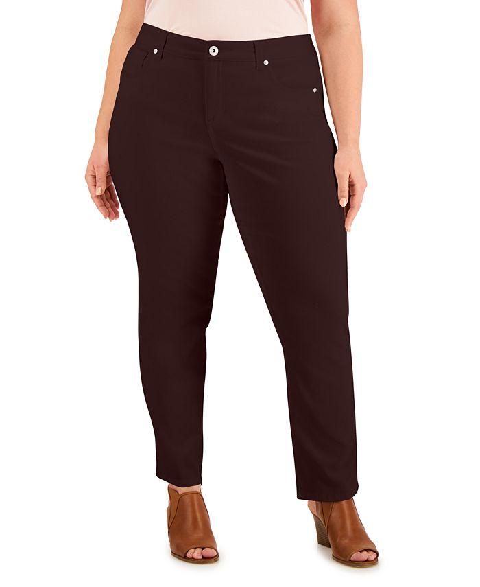 Style & Co - Plus Size Tummy Control Straight-Leg Jeans