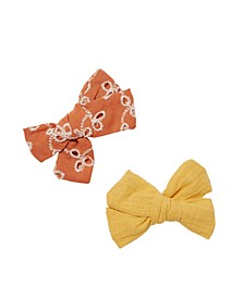 Girls Big Bow Clips - Broderie