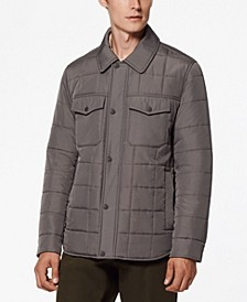 Archer Men's Quilted Shirt Jacket with Corduroy Trimming