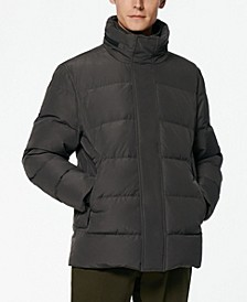 Stratus Men's Down Jacket with Hidden Hood