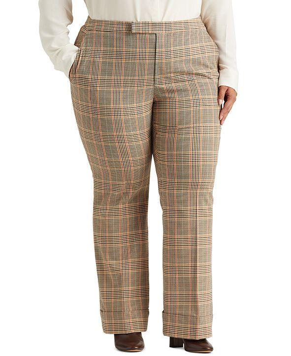 Lauren Ralph Lauren Plus Size High-Rise Pants