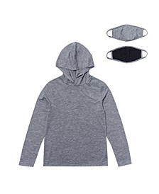 Big Boys Long Sleeve Hooded Tee with Matching Masks