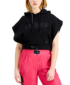 Hooded Dolman-Sleeve Sweatshirt