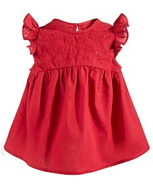 Baby Girls Embroidered Eyelet Cotton Top, Created for Macy's