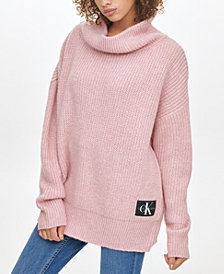 Calvin Klein Jeans Oversized Cowl-Neck Sweater
