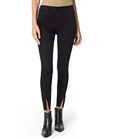 The Kitten Zip-Hem Skinny Ankle Jeans