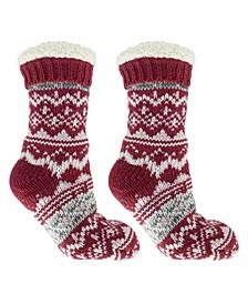 Women's Cabin Dreams Old School Slipper Socks, 3 Piece