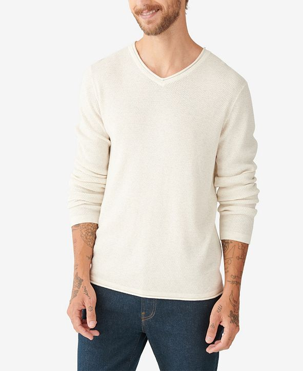 Lucky Brand Men's Welterweight V-Neck Sweater