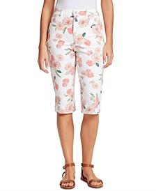 Petite Amanda Floral-Print Skimmer Jeans