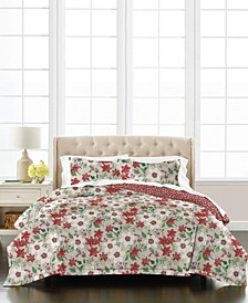Floral Percale 3-Piece King Comforter Set, Created for Macy's