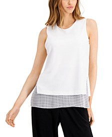 Sleeveless Overlay Top, Created for Macy's