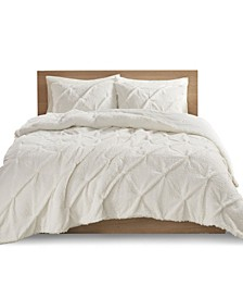 Addison 3 Pieces Full/Queen Pintuck Sherpa Down Alternative Comforter Set