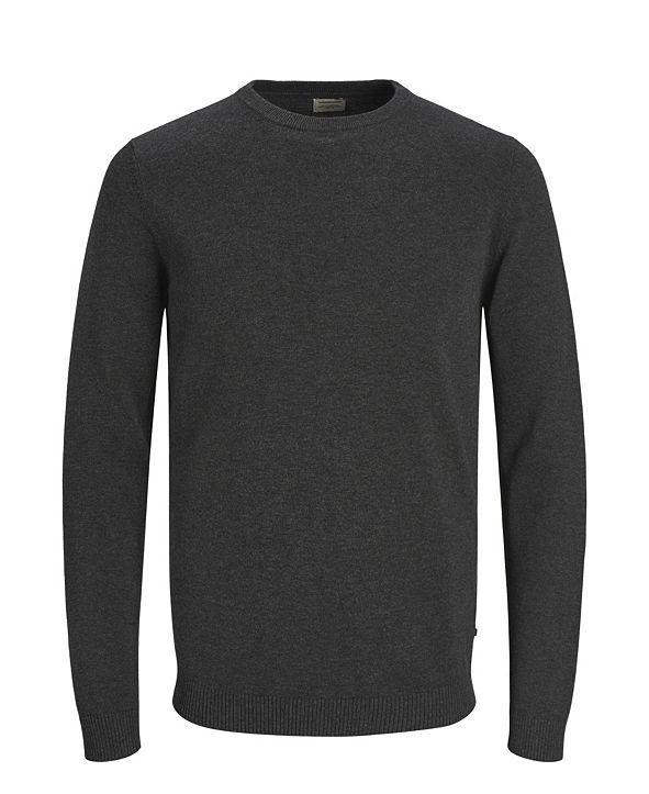 Jack & Jones Men's Solid Long Sleeve Sweater