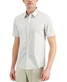 Men's Slim-Fit Stretch Floral Splatter-Print Shirt