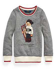 Little Girls Sled Bear Atlantic Terry Sweatshirt