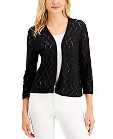 Crocheted Open-Front Cardigan, Created for Macy's