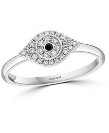 EFFY® Diamond Evil Eye (1/6 ct. t.w.) Ring in Sterling Silver