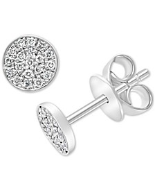 EFFY® Diamond Pavé Cluster Stud Earrings (1/6 ct. t.w.) in Sterling Silver
