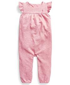 Ralph Lauren Baby Girls Flutter-Sleeve Terry Overall